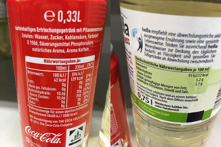 Die Wahrheit ist: das Wellnesswasser enthält schon halb soviel Zucker wie Cola. Und dann auch noch in Form von Fruktose... Besser Finger weg!