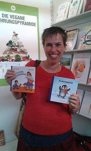 Sandra auf der Buchmesse in Frankfurt im Oktober 2017