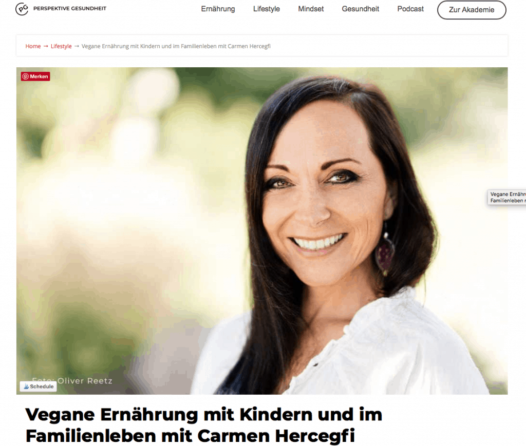 Podcast Interview mit Carmen Hercegfi