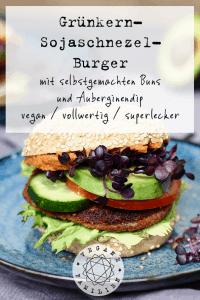 Grünkern-Sojaschnetzel-Burger