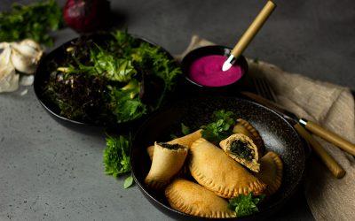 Vegane Empanadas mit Knaller-Protein-Dip
