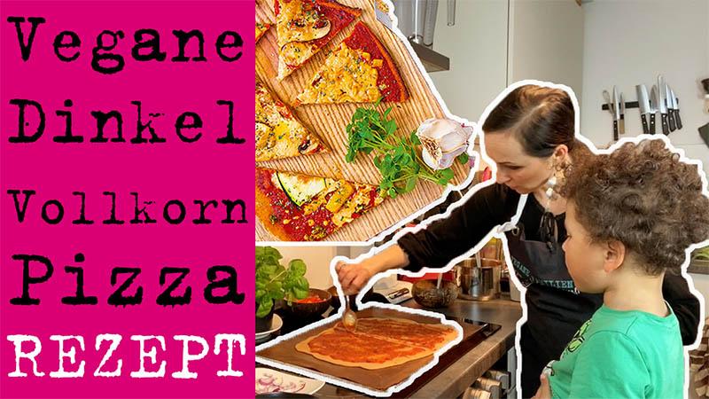 Vegane Pizza mit Dinkel Vollkornmehl