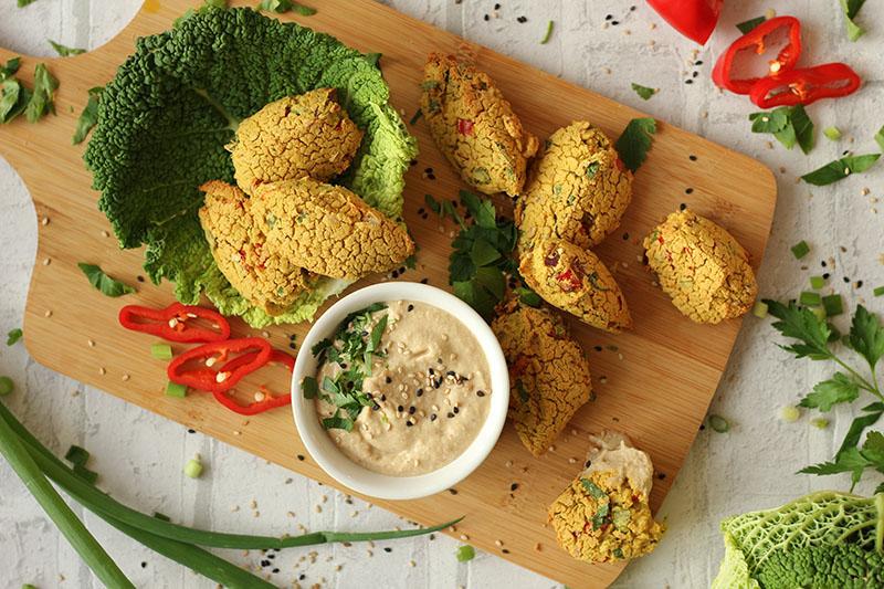 Vegane Falafel aus dem Backofen – ohne lästiges frittieren
